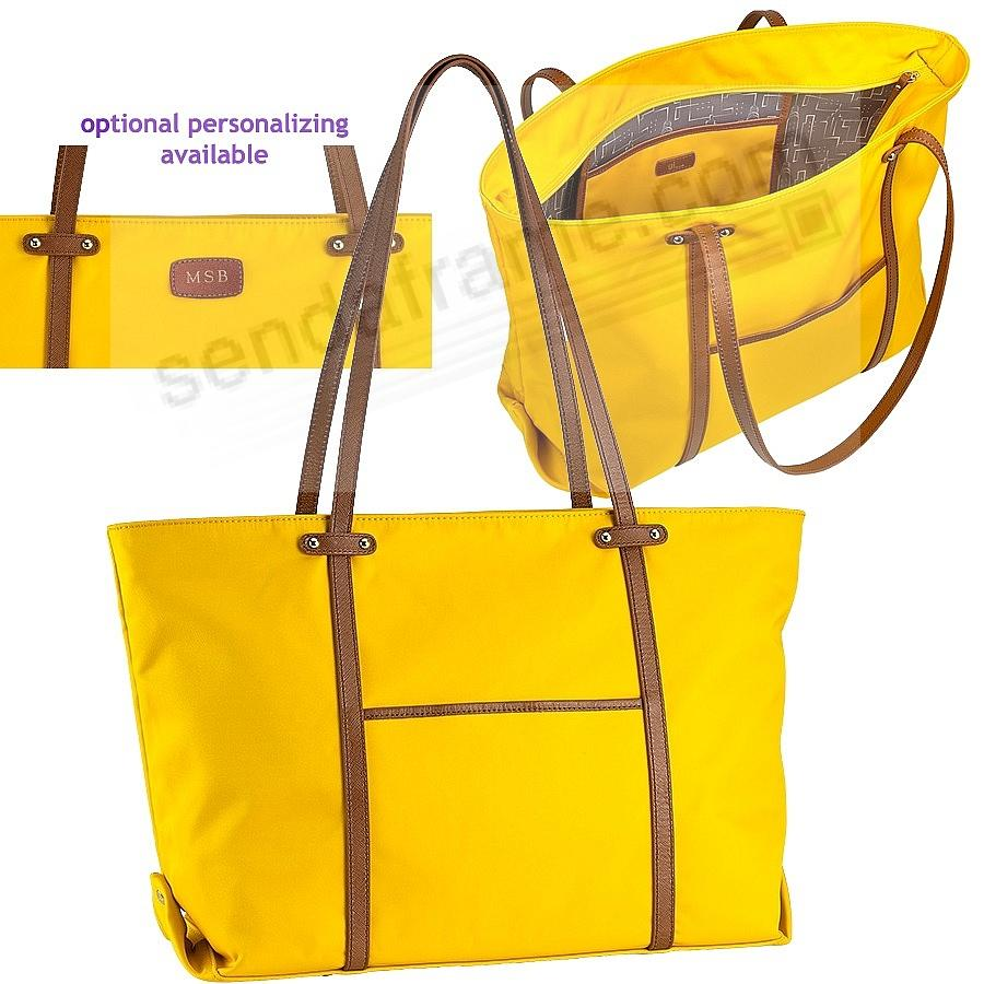 The Original UNION TOTE Marigold-Yellow Nylon and Soft Leather by Graphic Image™