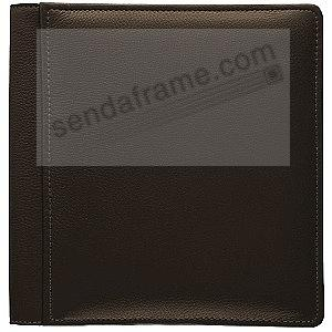 TOPNOTCH Brown fine leather #105 album with 5-at-a-time pages by Raika®