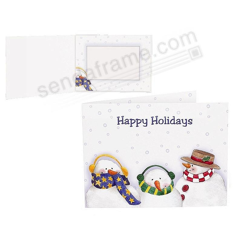 HAPPY HOLIDAYS SNOWMEN<br>Photo Folder for 6x4 prints (sold in 25's)