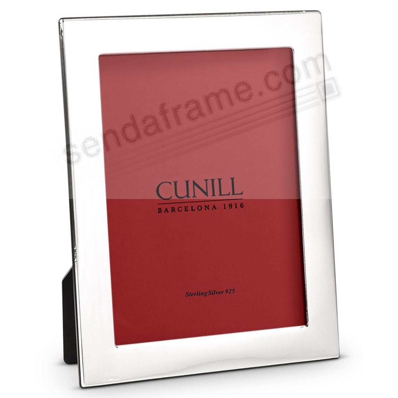 The PLAIN 1inch Fine Sterling Silver 5x7 frame<br>by Cunill&reg;