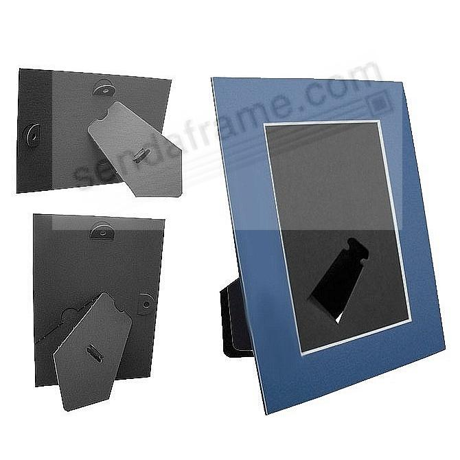 BLUE/White Core Mat Board 4x6 Frame with Bevel Cut Window and Easel Back (sold in 6s)