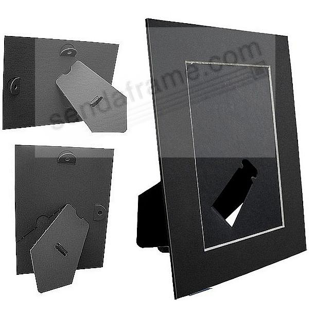 BLACK/White Core BEVEL-CUT Easel 4x6 Frame Paper Stock (sold in 6s)