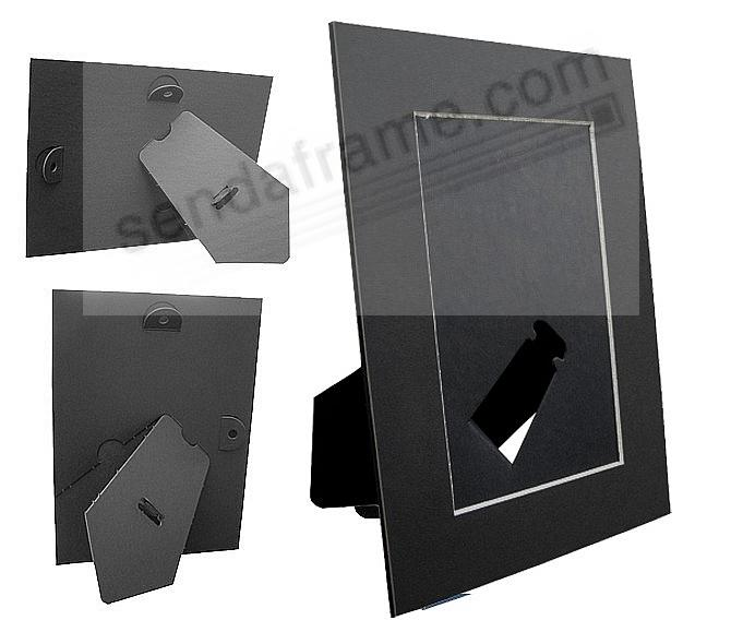 BLACK/White Core BEVEL-CUT Easel 5x7 Frame Paper Stock (sold in 6s ...