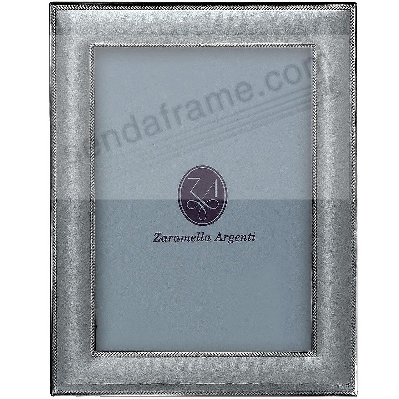 PARIS hammered Sterling Silver with braid border Wallet Size frame by Zaramella Argenti®