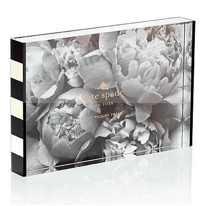BLACK STRIPE 4x6 Acrylic Block picture frame by kate spade new york ...