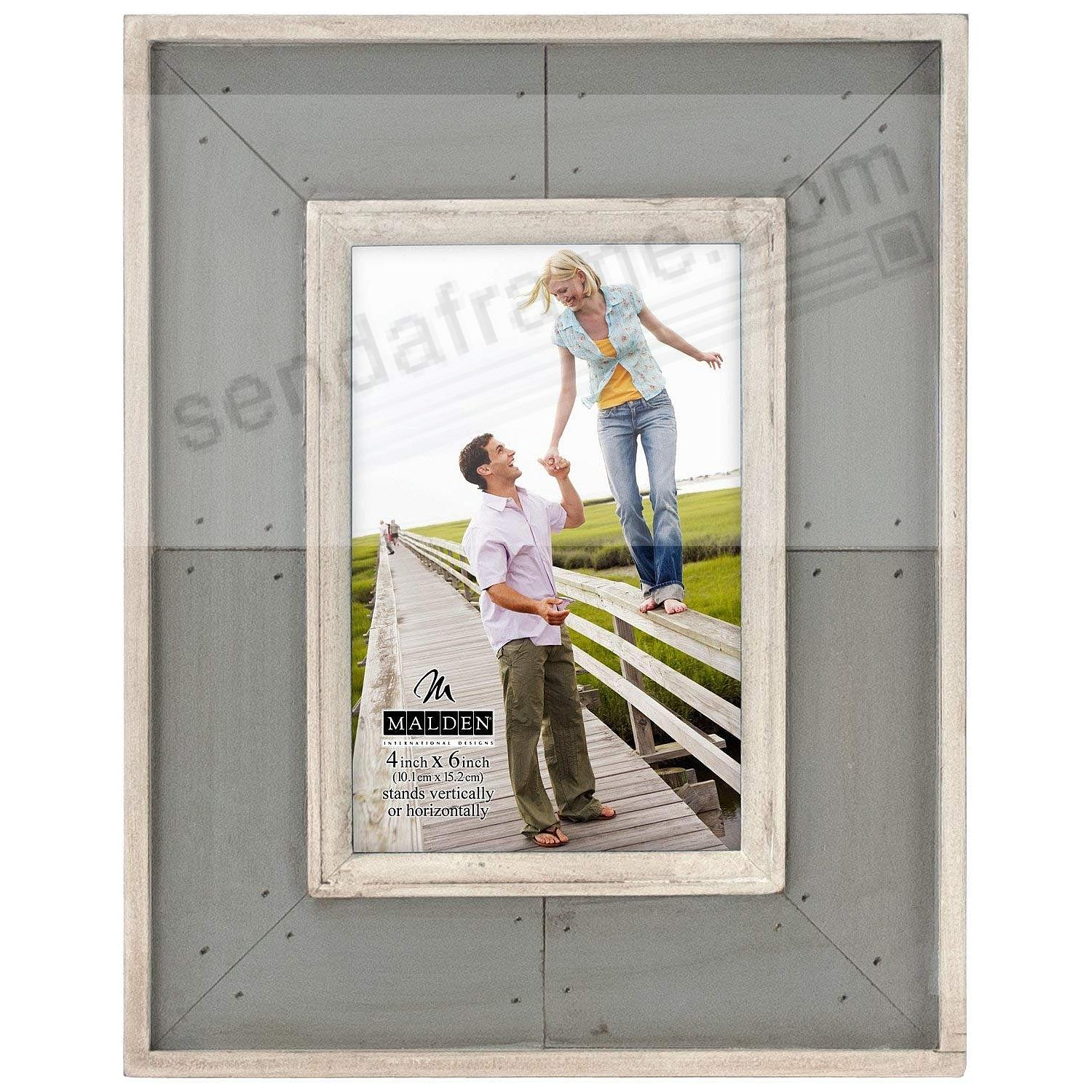 SUNWASHED COASTAL GRAY Weathered Wood 4x6 frame by Malden® - Picture ...