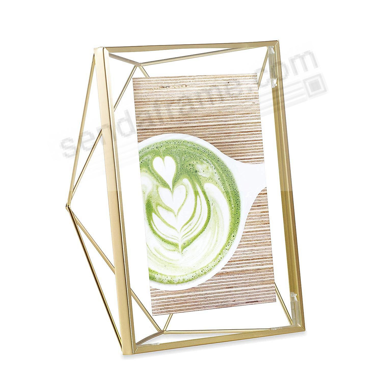 the original prisma photo display brass wire 5x7 frame by umbra