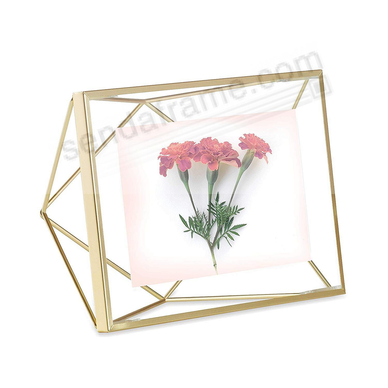 The Original PRISMA Photo Display Brass 4x6 frame by Umbra®