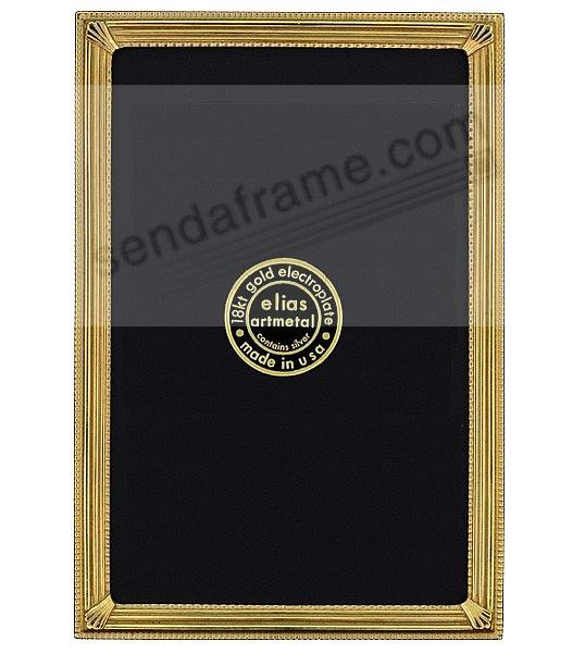 TRAX 18kt Museum Gold Vermeil over pewter frame<br>by Elias Artmetal&reg;