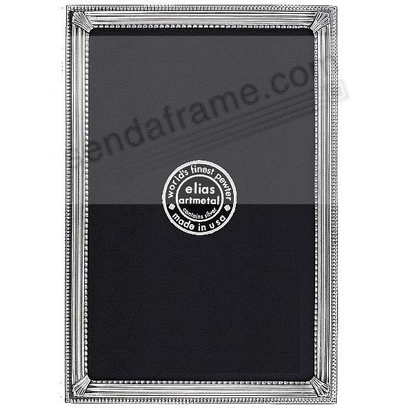 TRAX Silvered Fine Pewter frame<br>by Elias Artmetal&reg;