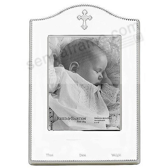 ABBEY Silver Baby Birth Record frame by Reed & Barton® - Picture ...