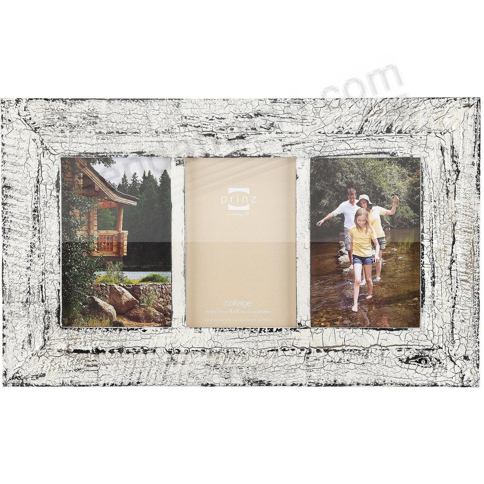 BIRCH HOLLOW Antique White Wood (3) 4x6 frame by Prinz® - Picture ...