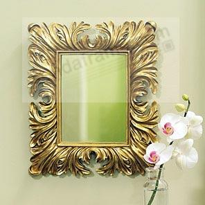 Contemporary Ornate Gold Mirror By Burnes Of Boston