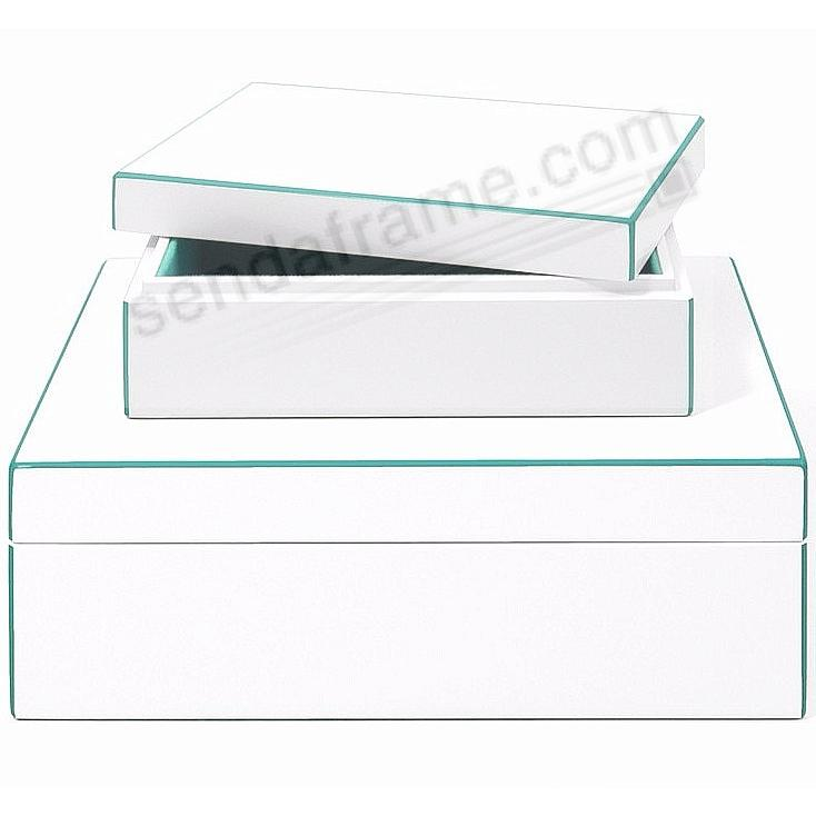 The Original Aria Storage Box Whiteturquoise Lacquer By Swing