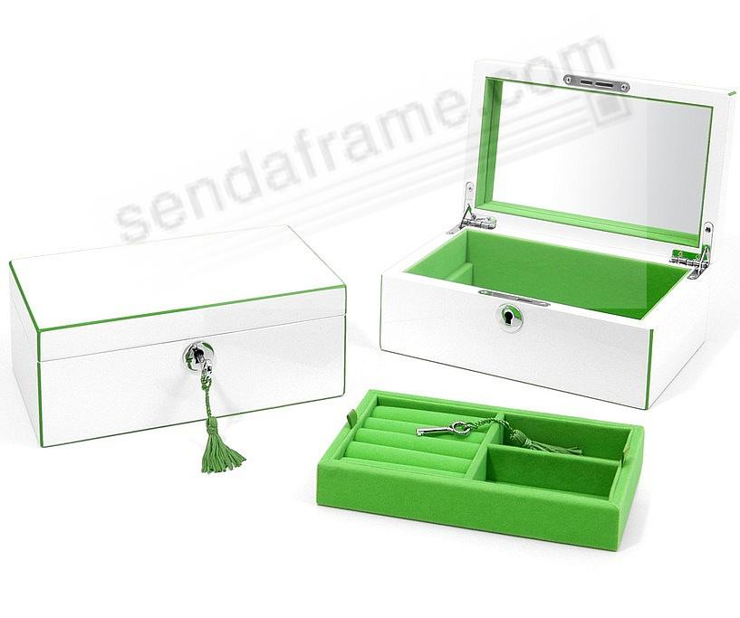 The Original Aria Jewelry Box Small Apple Green Lacquer By Swing