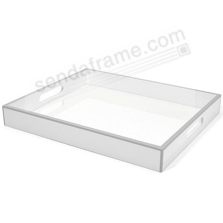 The Original Elle Serving Tray White Lacquer By Swing Design