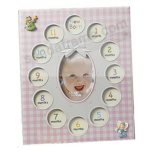 Our Baby Girl First Year Collage Frame Displays 13 Photos Picture