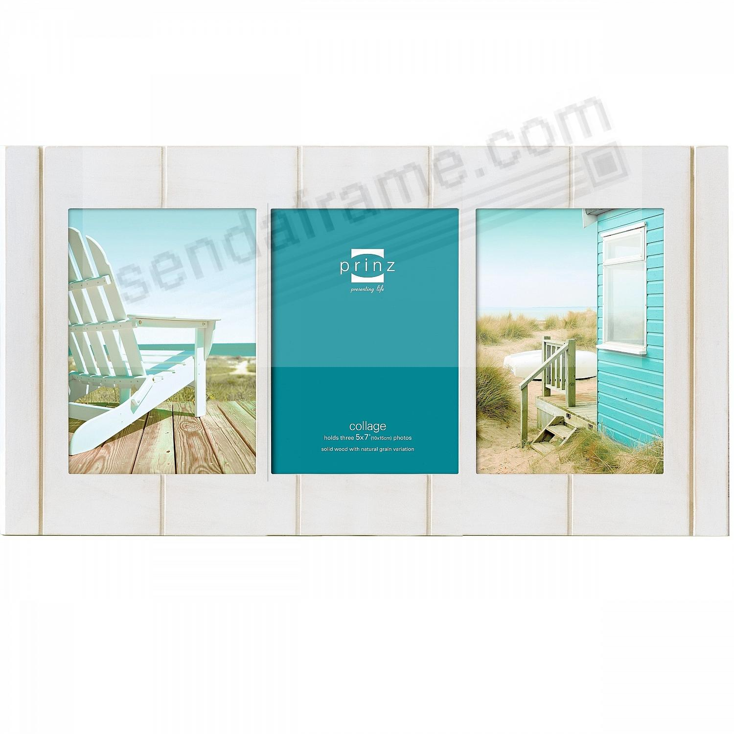 SEASIDE white-wash wood 3/5x7 collage frame by Prinz - Picture ...