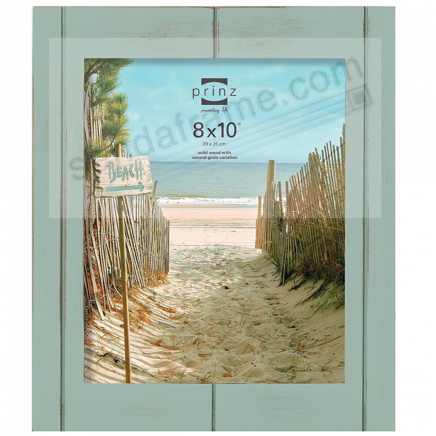 SEASIDE Aquamarine stained wood 8x10 frame by Prinz - Picture Frames ...