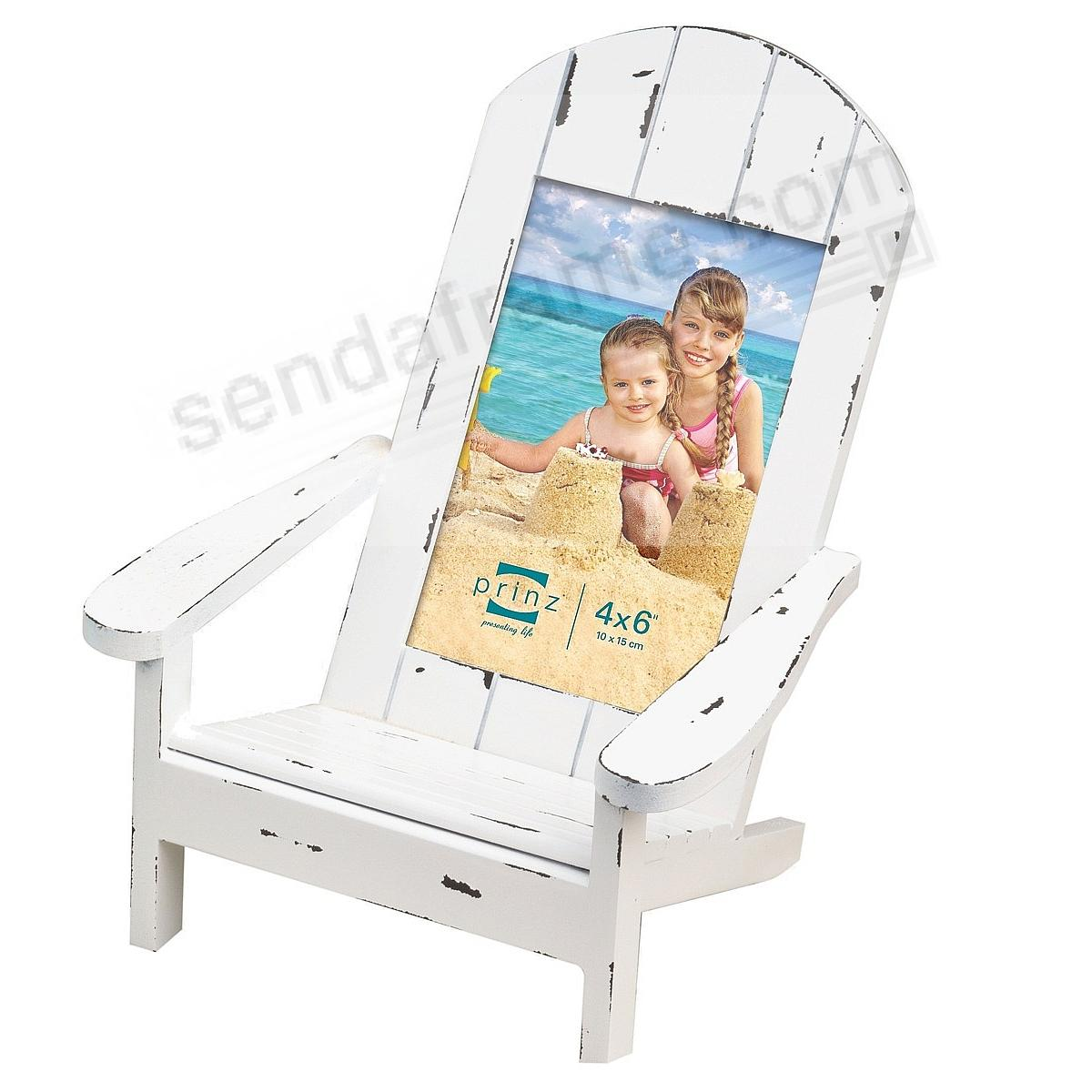 EASY LIVING Adirondack Chair White 4x6 Frame In Natural