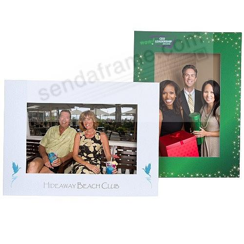5x7 dual easel custom printed full color easel frames - Dual Picture Frame