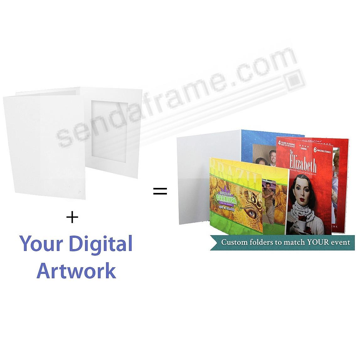 4x6 Portrait (vertical) FULL COLOR CUSTOM Printed Photo Folder