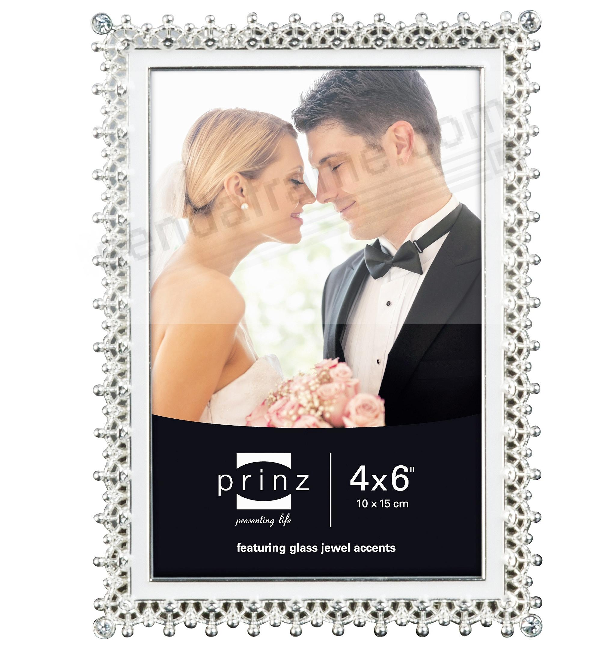Picture frames photo albums personalized and engraved digital elegance silver crystal and enamel 4x6 frame by prinzreg jeuxipadfo Gallery