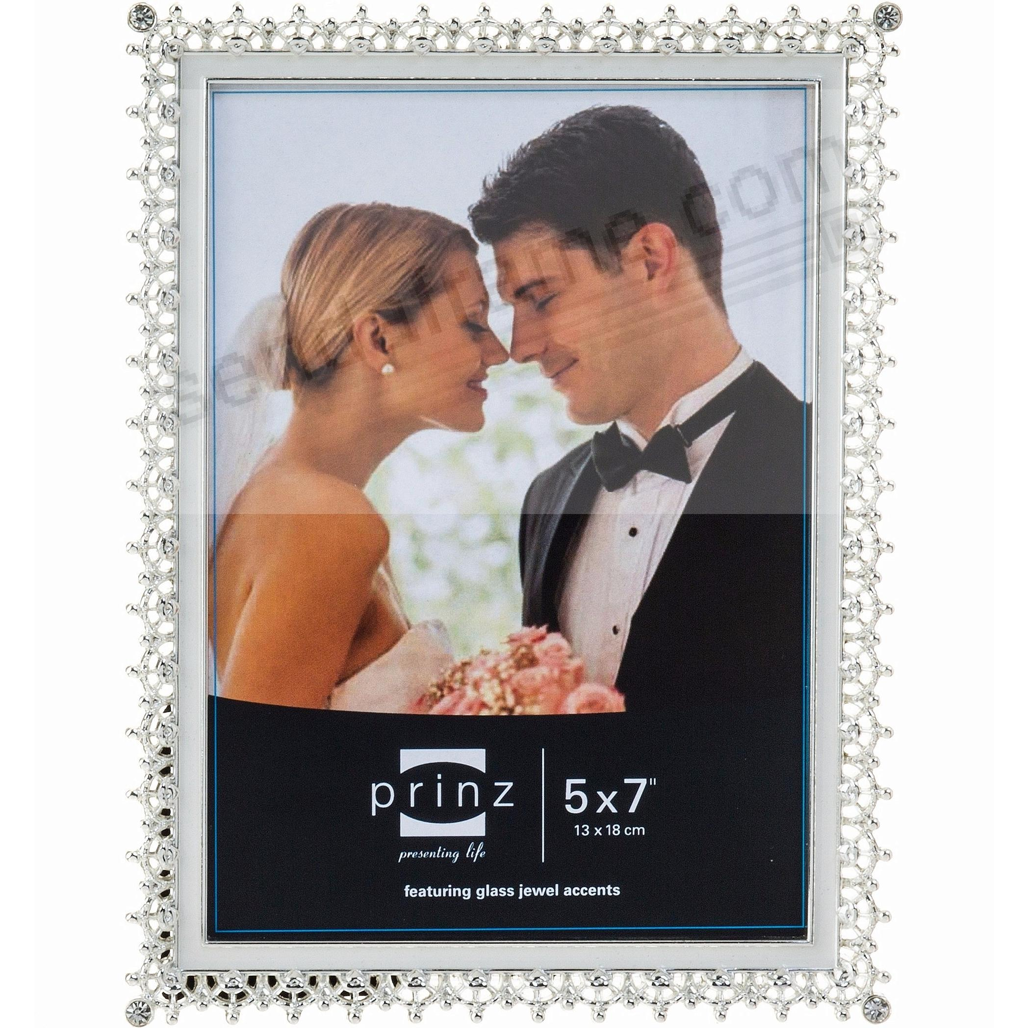 Picture frames photo albums personalized and engraved digital elegance silver crystal and enamel 5x7 frame by prinzreg jeuxipadfo Gallery