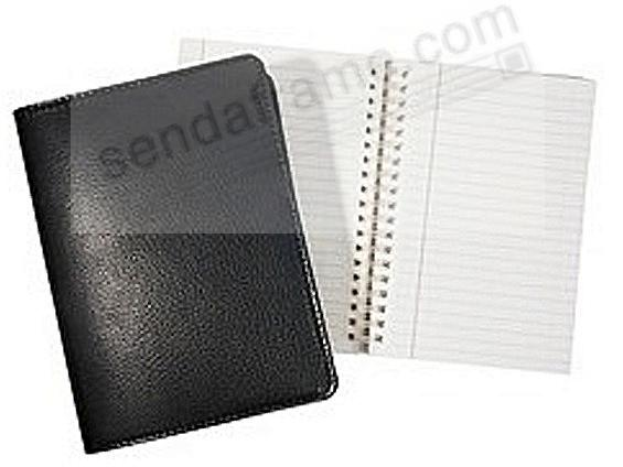 Wire-O-Notebook 9in TRADITIONAL BLACK Fine Leather by Graphic Image™