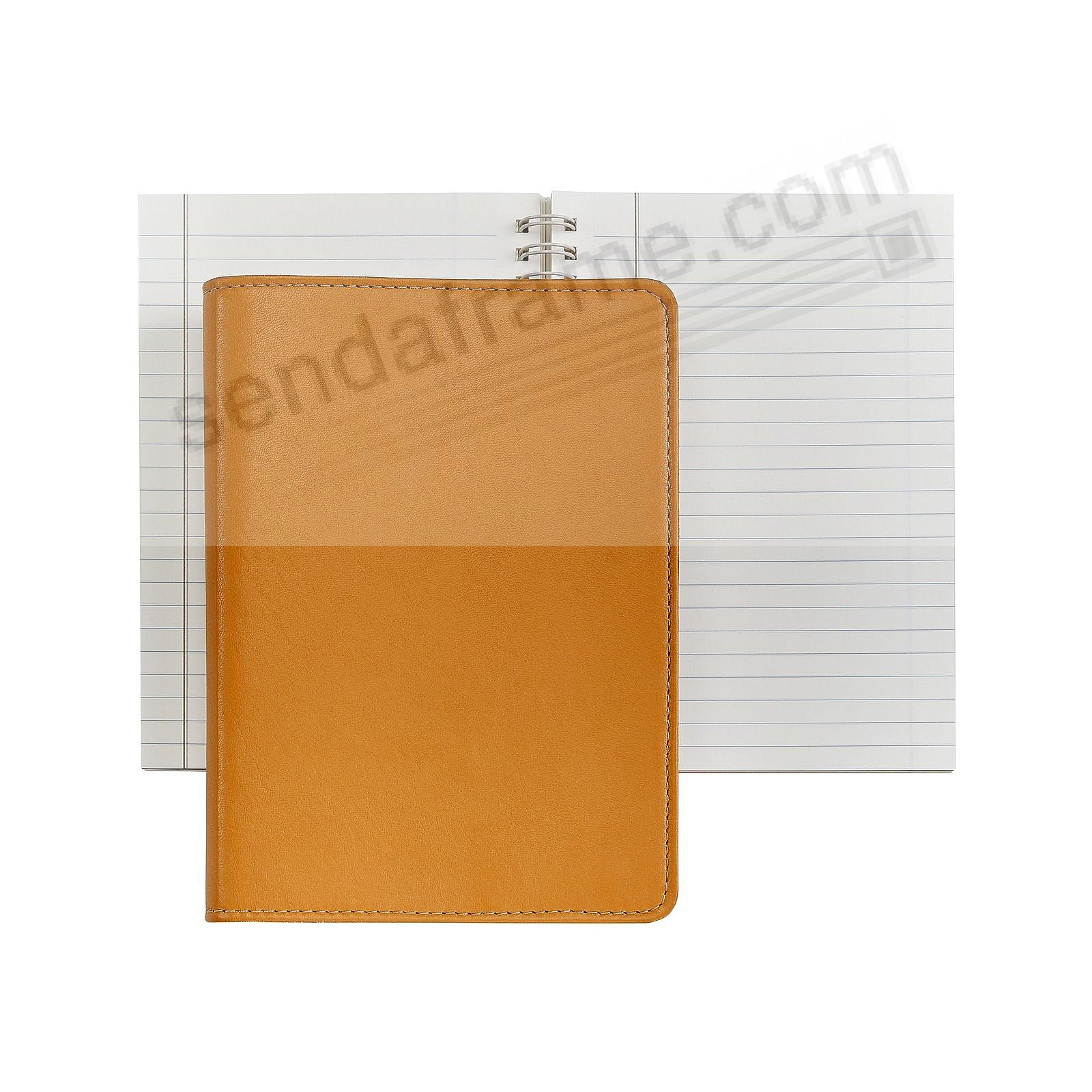 Wire-O-Notebook 7'' British Tan Fine Calfskin Leather by Graphic Image™
