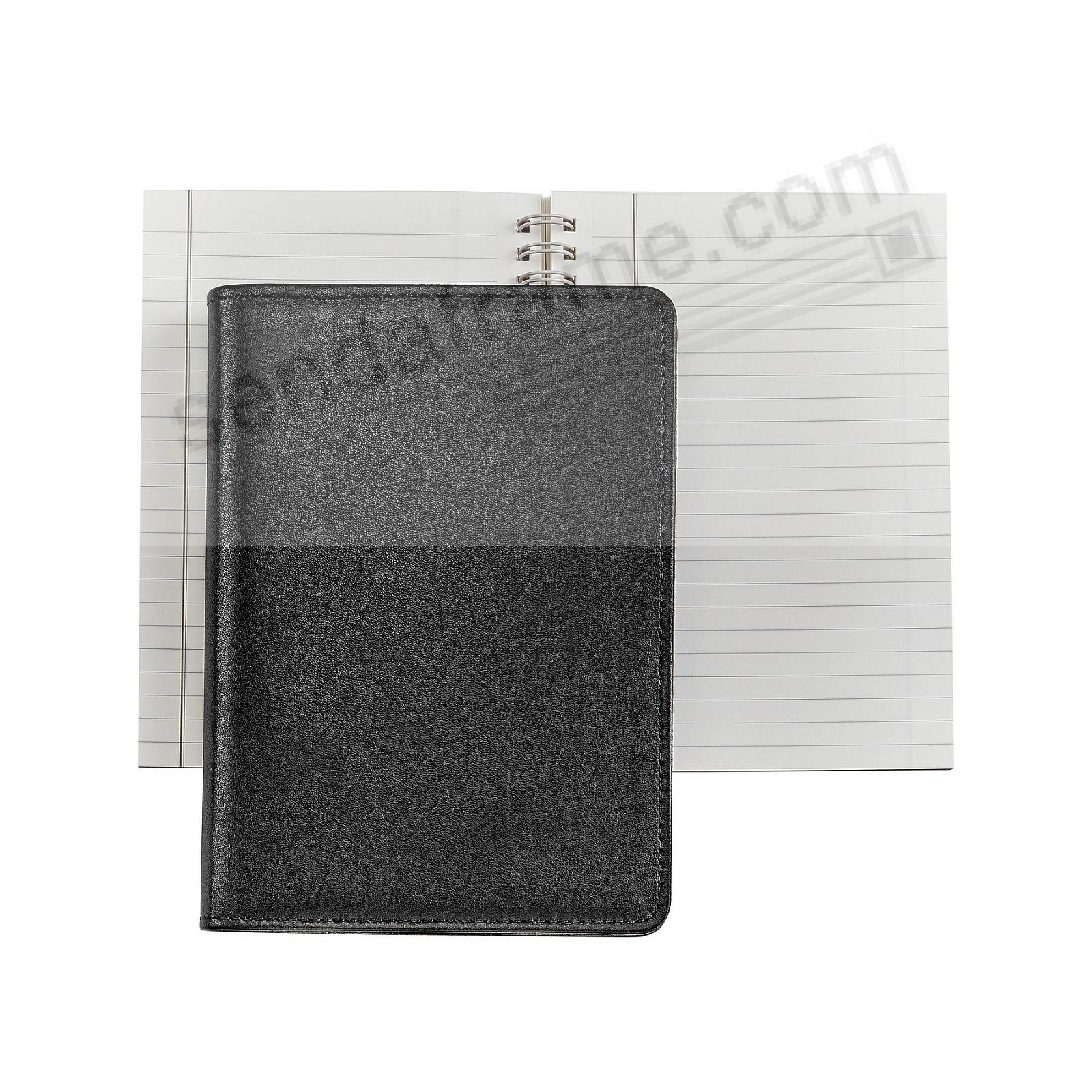 Wire-O-Notebook 7in Black Fine Calfskin Leather by Graphic Image™