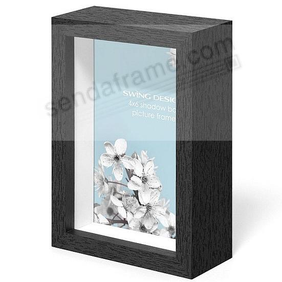 The Original CHROMA Shadowbox Black 4x6 frame by Swing Design®