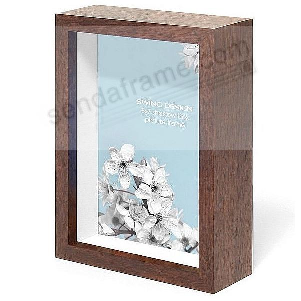 The Original CHROMA Shadowbox Brown 5x7 frame by Swing Design®