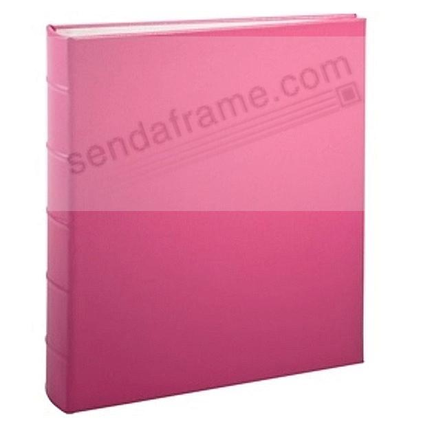 Standard 3-ring Pink Fine Leather album with slip-in pocket pages by Graphic Image™