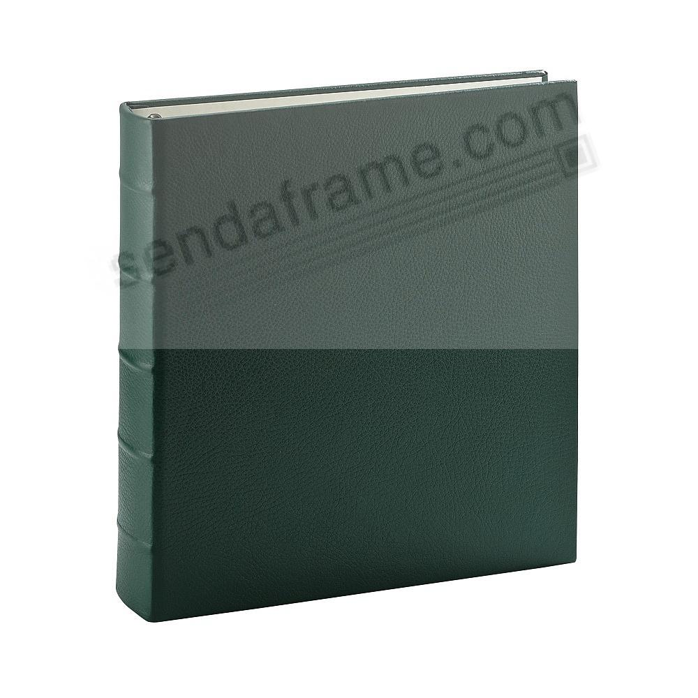 Standard 3-ring Emerald-Green Fine Calfskin Leather album with slip-in pocket pages by Graphic Image™