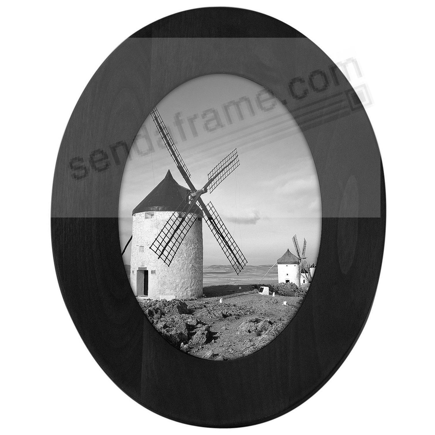 BLACK OVAL wood 8x10 frame by Malden®