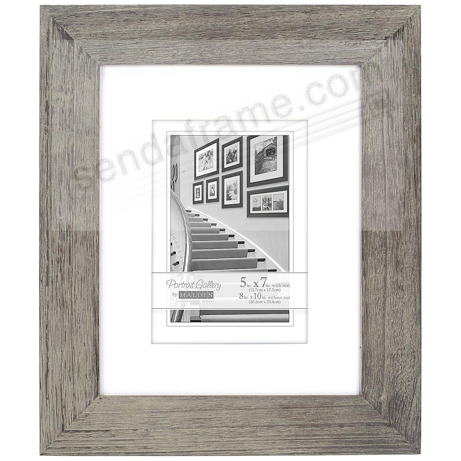 Gray Portrait Matted 8x10 5x7 Frame By Malden Design