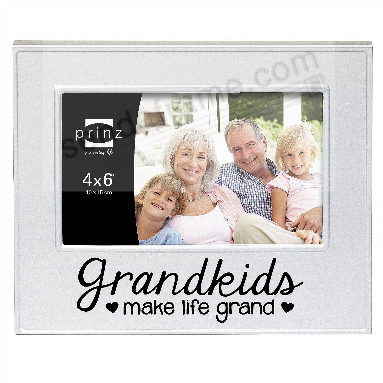 GRANDKIDS Make Life Grand Brushed Silver 6x4 frame by Prinz ...