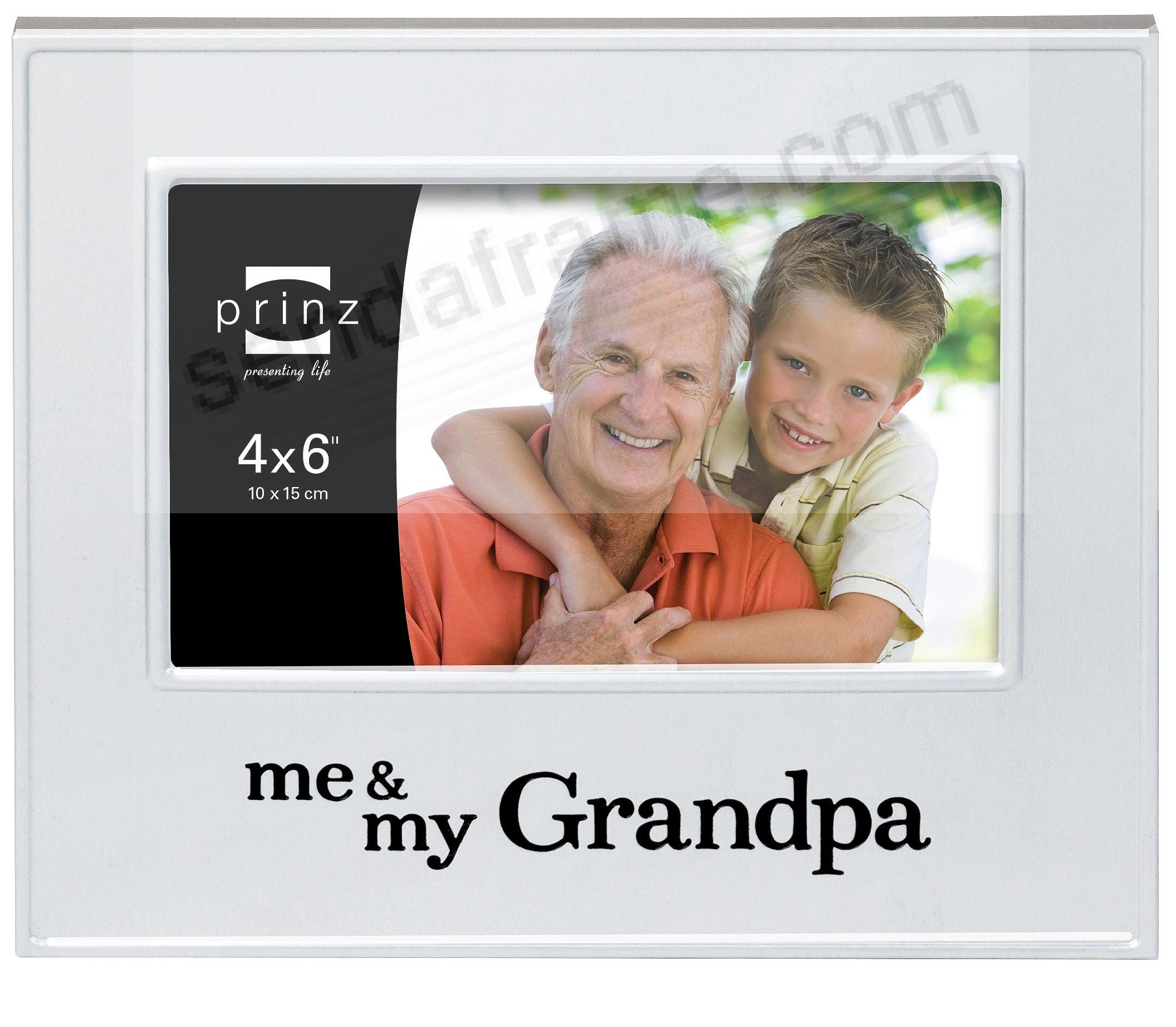 ME & MY GRANDPA Brushed Silver 6x4 frame by Prinz® - Picture Frames ...