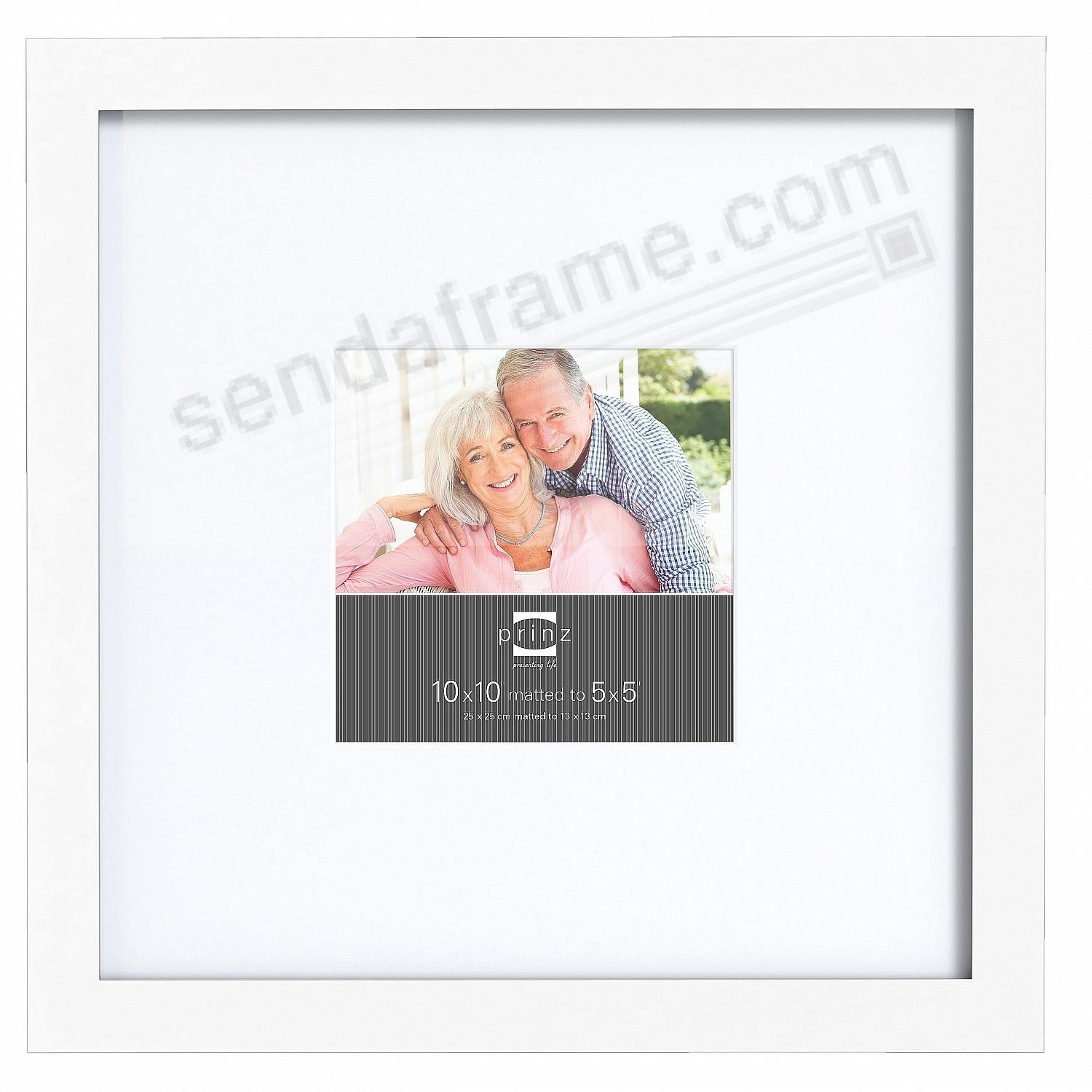gallery expressions white 10x105x5 frame wwhite mat by prinz