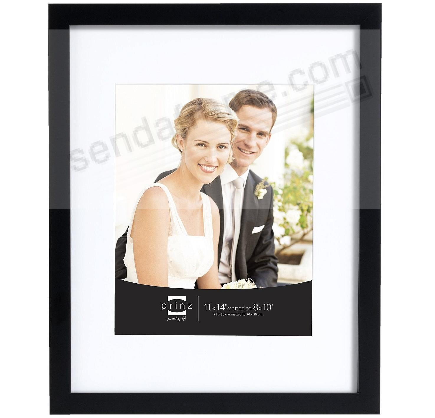 WEDDING GALLERY Black 11x14/8x10 frame w/white mat by Prinz ...