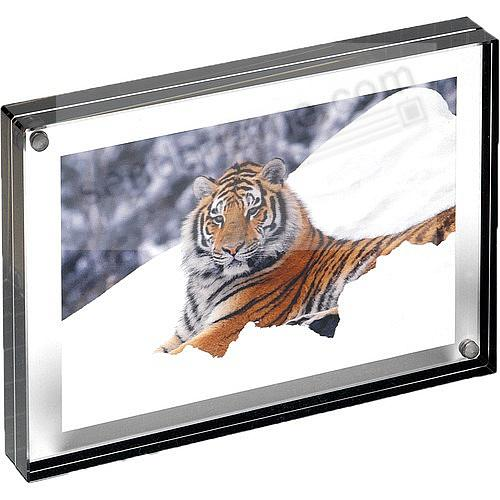 The Original acrylic 8x10 MAGNET FRAME with Graphite Edge by Canetti®