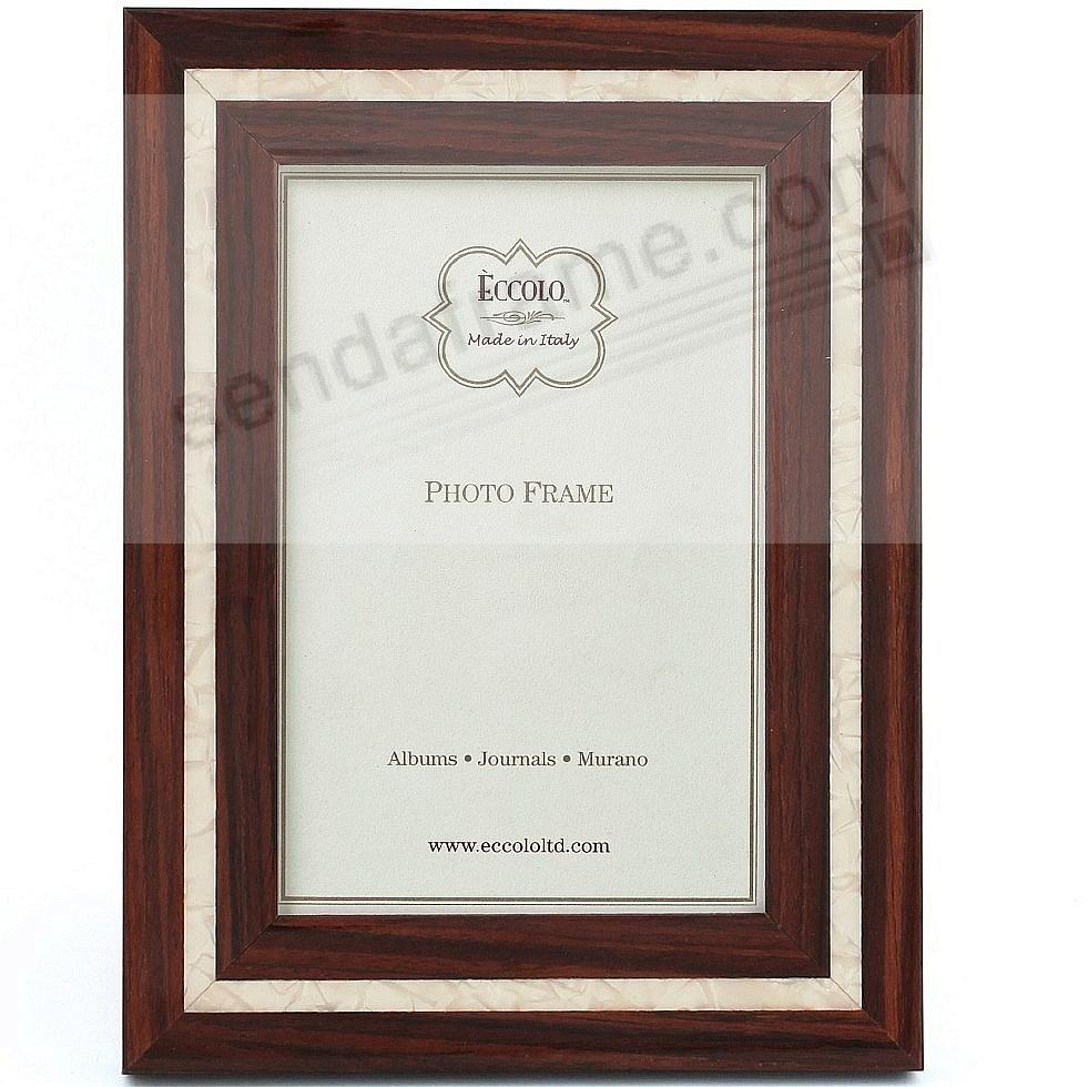 MOTHER OF PEARL DARK BROWN MARQUETRY frame by Eccolo™ - Picture ...