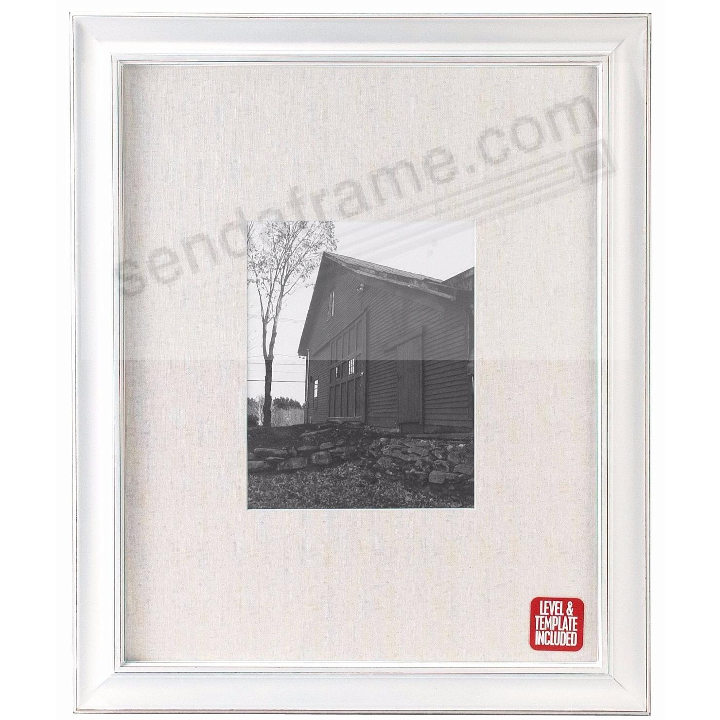 BARNSIDE WHITE 16x20/8x10 Matted Frame by Malden® - Picture Frames ...