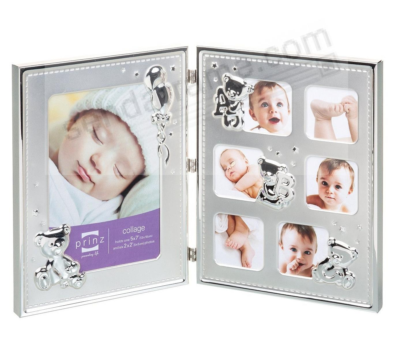 PRIDE & JOY 7-opening silver-plate collage frame by Prinz® - Picture ...
