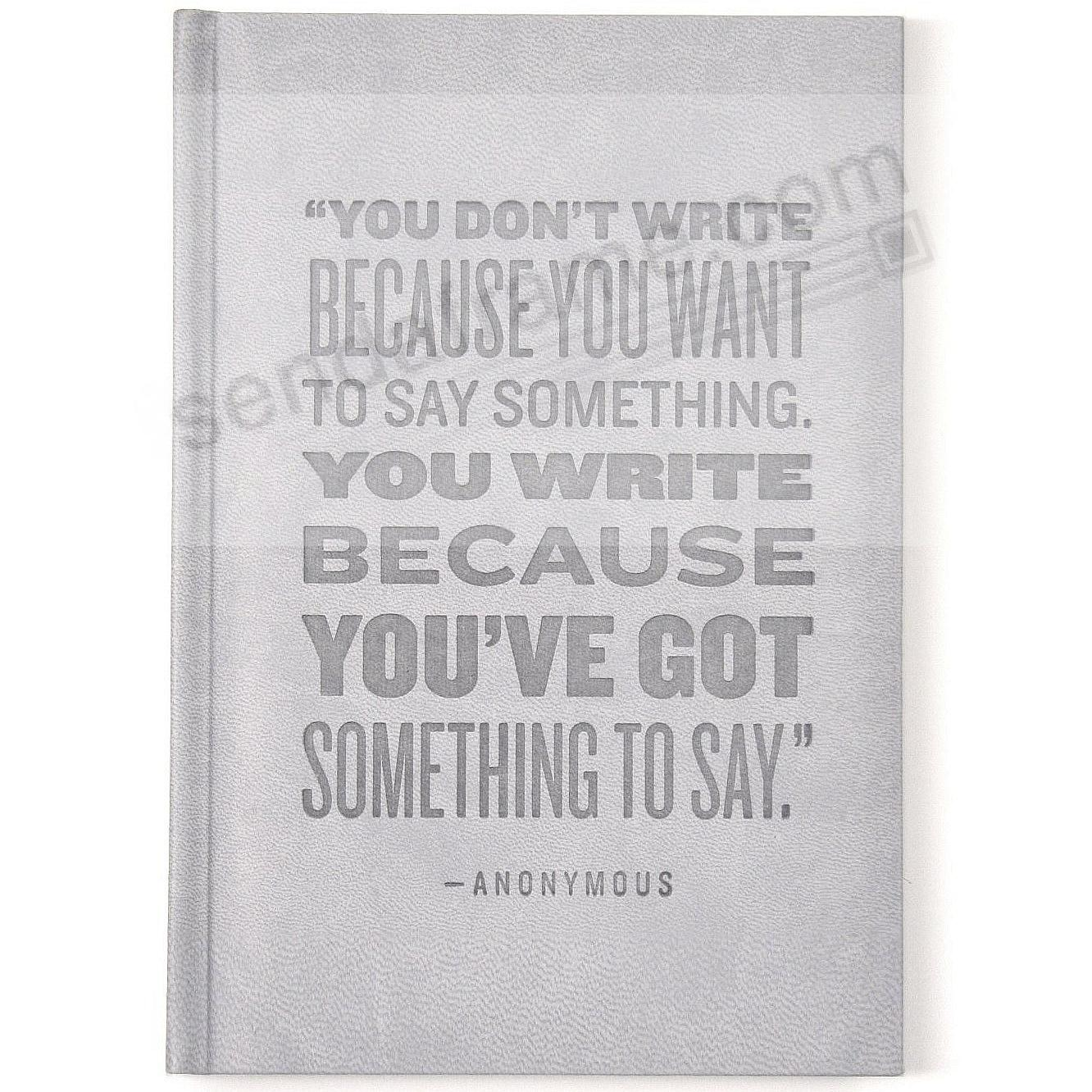 SAY SOMETHING ... Grey Leather-like 6x8 Journal by Eccolo™ LOFTY ...