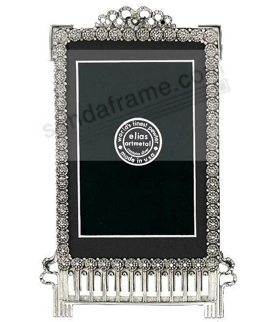 CARNATION luxe silvered Fine Pewter 4x6/3½x5½ pattern frame by Elias Artmetal®
