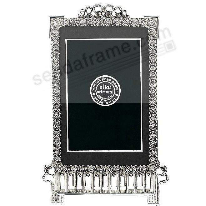 CARNATION luxe silvered Fine Pewter 5x7/4x6 pattern frame by Elias Artmetal®