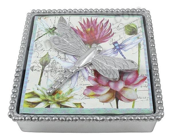 DRAGONFLY BEADED Napkin Box by Mariposa®