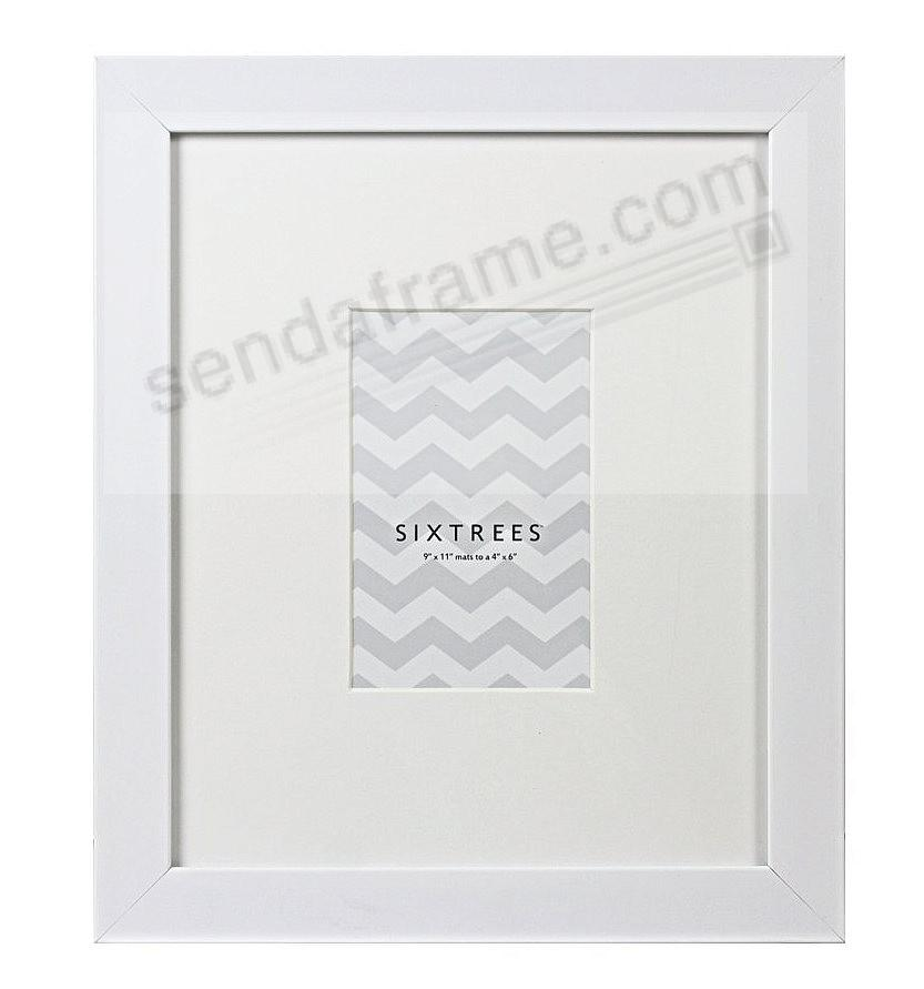 WHITE MATTED 9x11/4x6 frame by SIXTREES® - Picture Frames, Photo ...